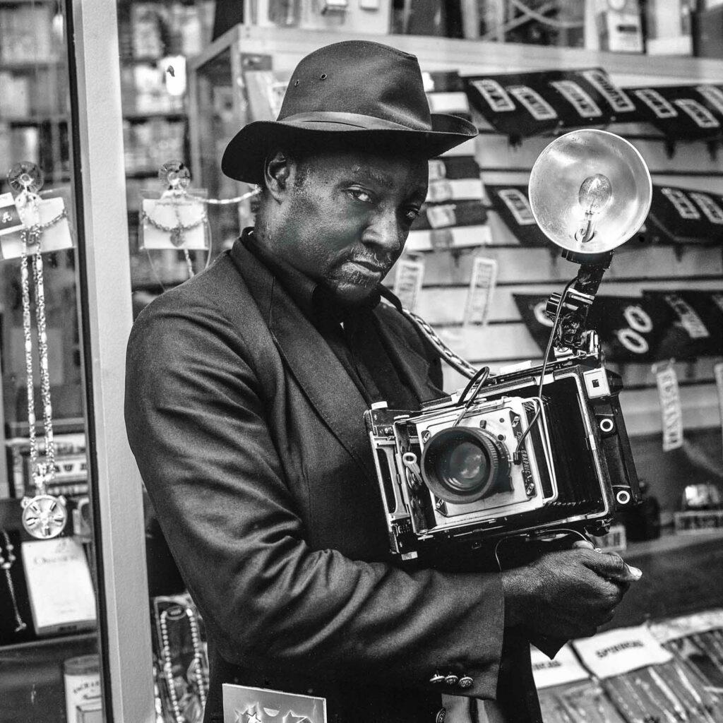 Photographe capturant le temps qui passe